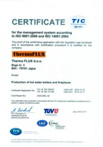 ISO Certificate THERMOFLUX